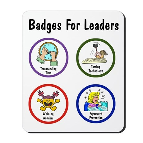 Badges for Leaders Mousepad