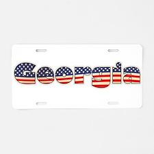American Georgia Aluminum License Plate
