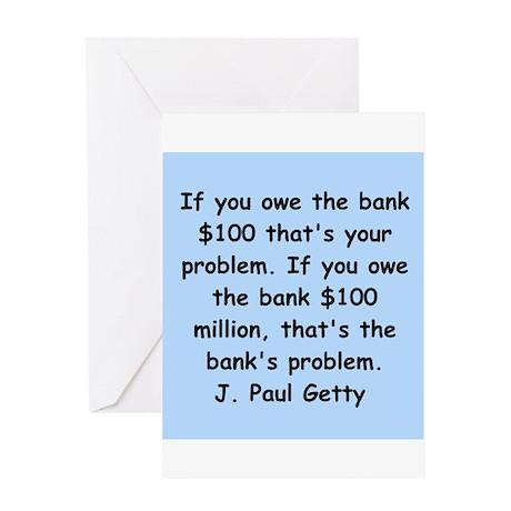 j paul getty Greeting Card