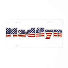 American Madilyn Aluminum License Plate