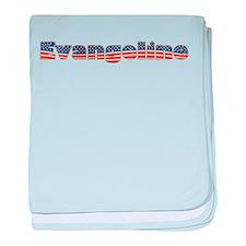 American Evangeline baby blanket