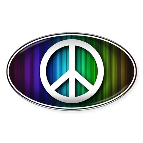 Big Peace RAINBOW - Sticker (Oval)