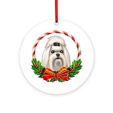 Maltese Wreath Ornament (Round)