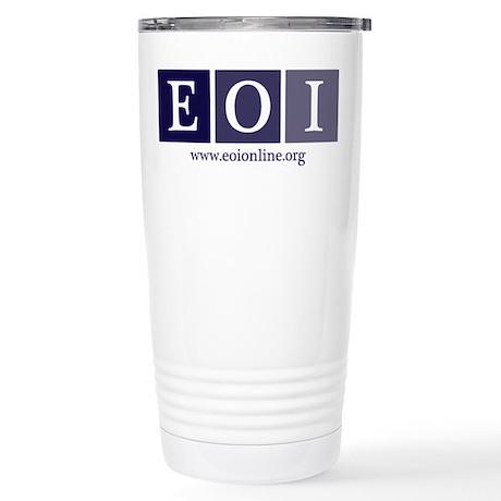 Stainless Steel Travel Mug | EOI Logo