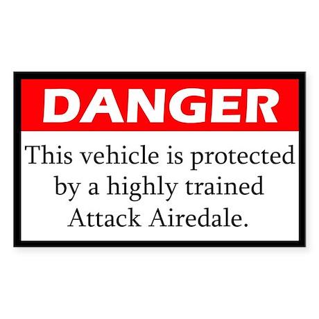 Danger Airedale Terrier Sticker