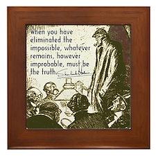 Sherlock Holmes Truth Framed Tile