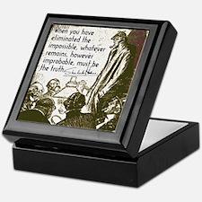 Sherlock Holmes Truth Keepsake Box