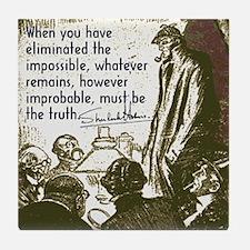 Sherlock Holmes Truth Tile Coaster
