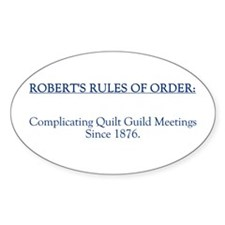 Robert's Rules Oval Stickers