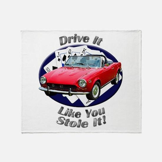 Fiat 124 Spider Throw Blanket