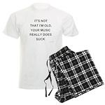 Music Does Suck Men's Light Pajamas