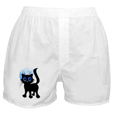 Black Halloween Kitten Boxer Shorts