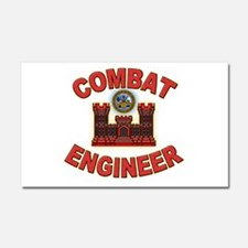 US Army Combat Engineer Brick Car Magnet 20 x 12
