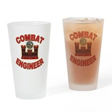 US Army Combat Engineer Brick Drinking Glass