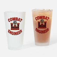 US Army Combat Engineer Brick Drinking Glass