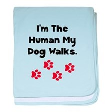 Human Dog Walks baby blanket
