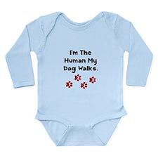 Human Dog Walks Onesie Romper Suit