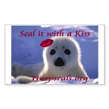 Seal it with a Kiss Rectangle Decal