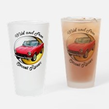Fiat 124 Spider Drinking Glass
