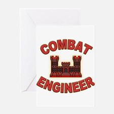 US Army Combat Engineer Brick Greeting Card