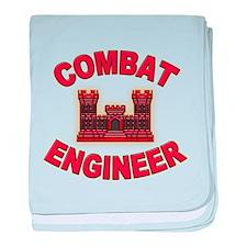 US Army Combat Engineer Brick baby blanket