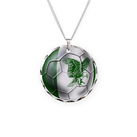nigeria football necklace circle charm by worldsoccerstore