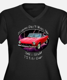 Fiat 124 Spider Women's Plus Size V-Neck Dark T-Sh
