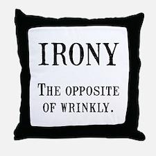 Irony Throw Pillow
