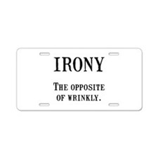 Irony Aluminum License Plate