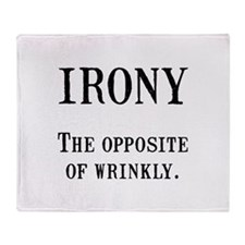 Irony Throw Blanket