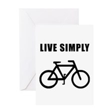 Live Simply Bike Greeting Card