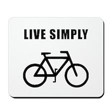 Live Simply Bike Mousepad