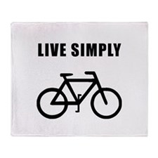 Live Simply Bike Throw Blanket
