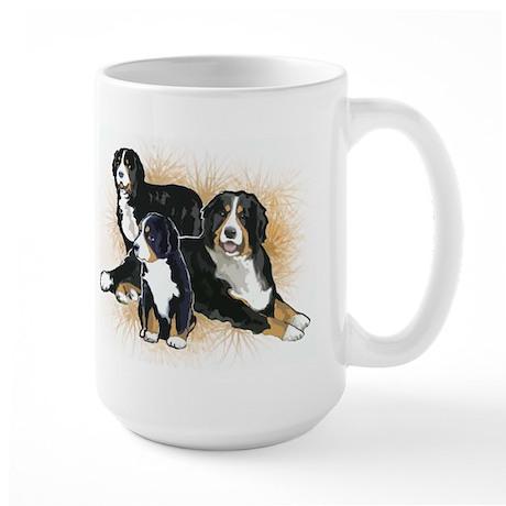 Bernese Mountain Dog Trio Large Mug