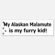 Alaskan Malamute Furry Kid Bumper Bumper Bumper Sticker
