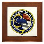 USS North Carolina Framed Tile