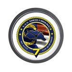 USS North Carolina Wall Clock