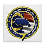 USS North Carolina Tile Coaster
