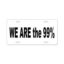 Occupy Wall Street: Aluminum License Plate
