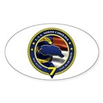 USS North Carolina Sticker (Oval 10 pk)