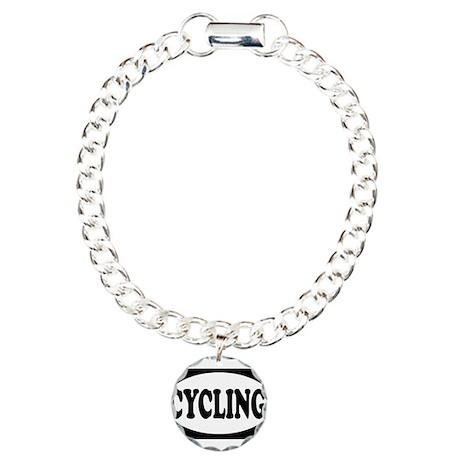 Cycling Charm Bracelet, One Charm