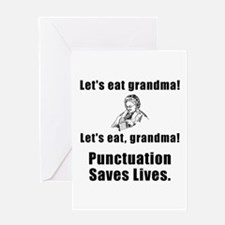 Lets Eat Grandma! Greeting Card