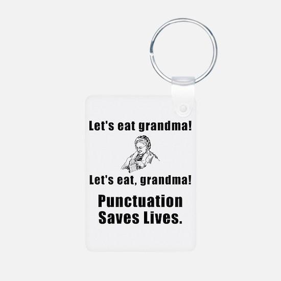 Lets Eat Grandma! Aluminum Photo Keychain