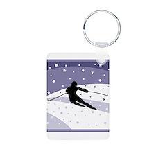 Skier Silhouette Keychains