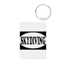 Skydiving Black Keychains