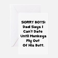 Sorry Boys Greeting Card