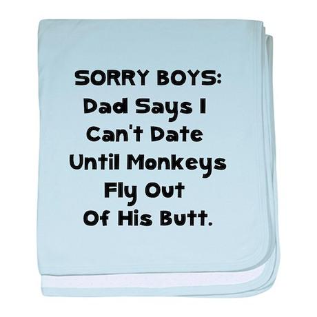Sorry Boys baby blanket