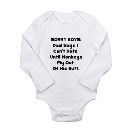 Sorry Boys Long Sleeve Infant Bodysuit
