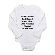 Sorry Boys Long Sleeve Infant Bodysuit