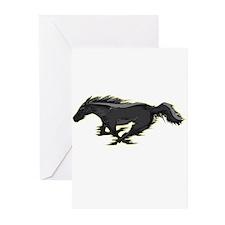 Mustang Running Horse Greeting Cards (Pk of 10)